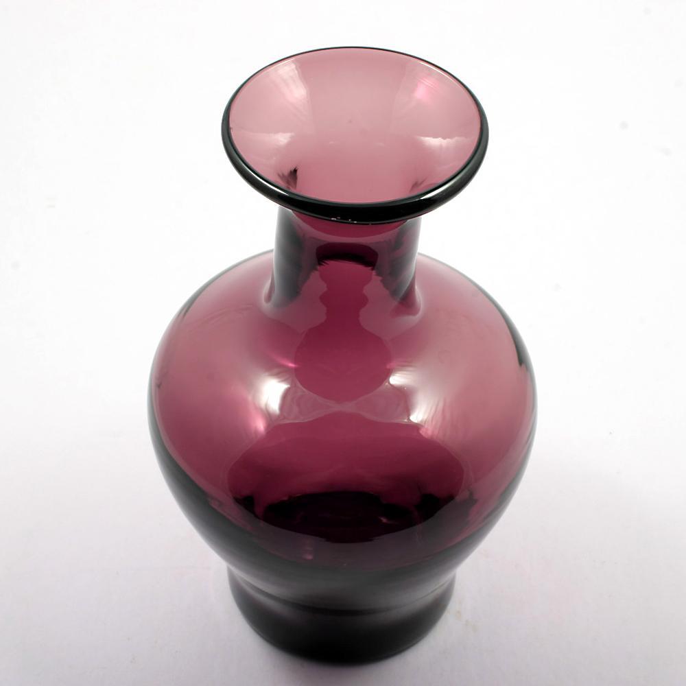 Blenko Amethyst Art Glass Vase Hand Blown Made In America Purple From Catisfaction On Ruby Lane