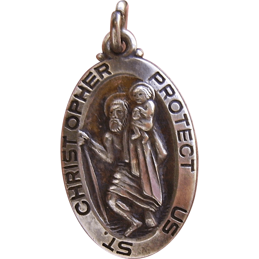 Vintage Sterling Silver Saint Christopher Medal From Chelseaantiques On Ruby Lane