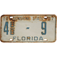 1957 Florida License Plate SOLD on Ruby Lane