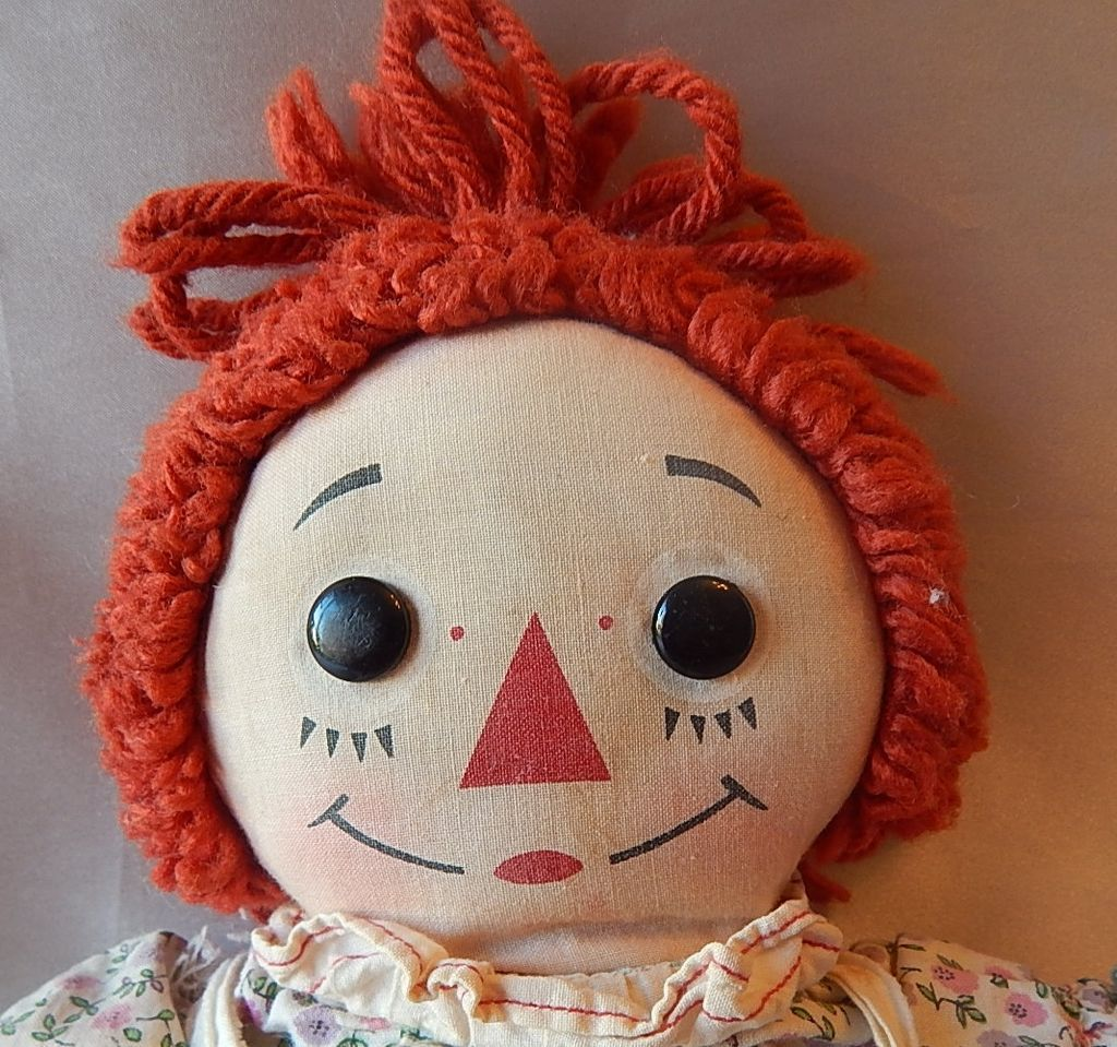 Knickerbocker Raggedy Ann Cloth Doll From Colemanscollectibles On Ruby Lane