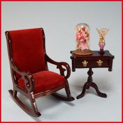Mini Rocking Chair Bedroom Homesense Dollhouse Miniature And Side Table With