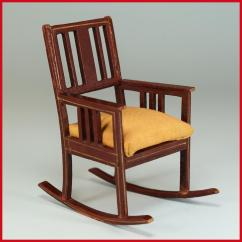 Antique Rocking Chair Twin High German Dollhouse Wooden By