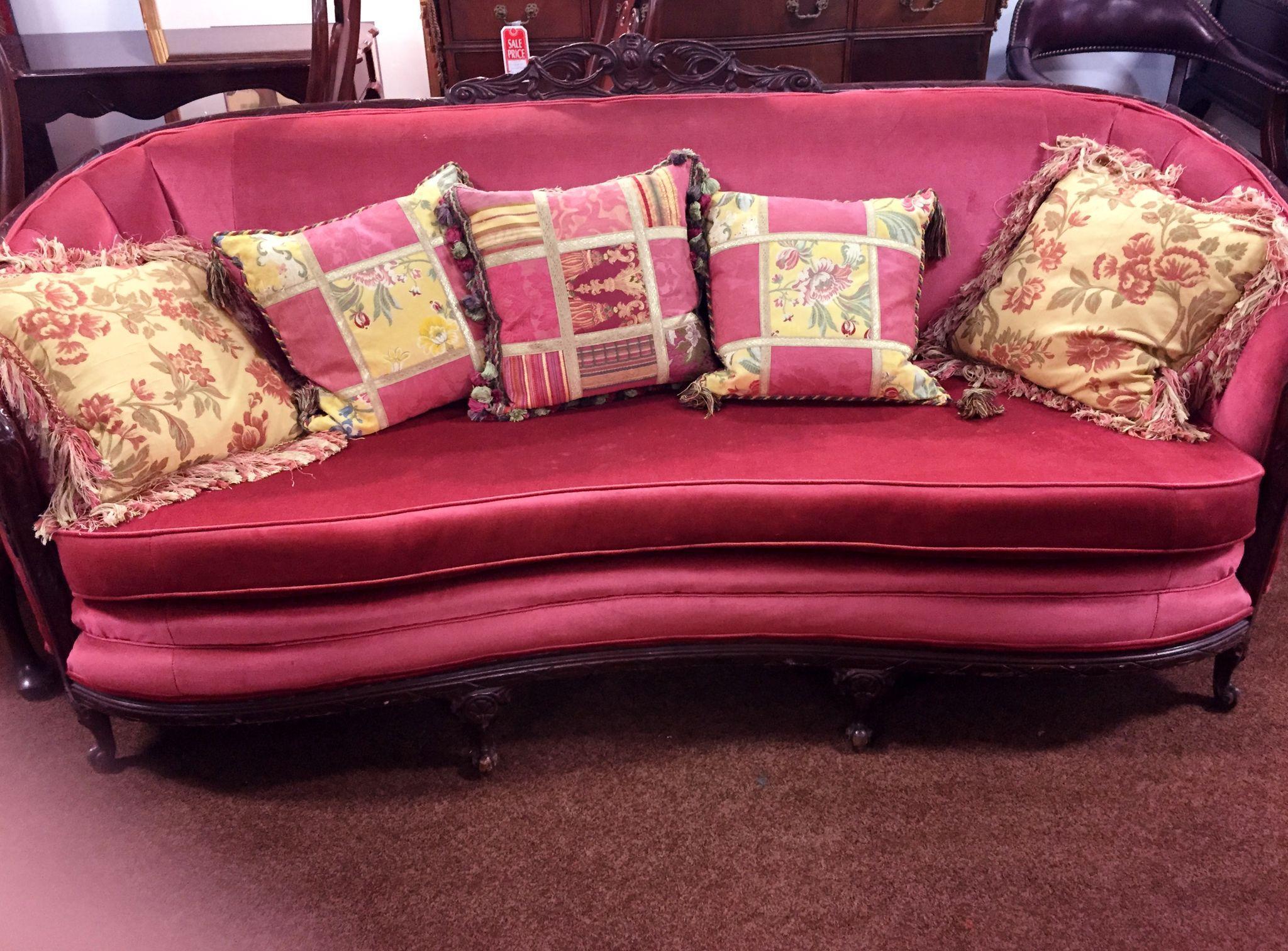 amalfi sofa macys nautical throws uk raspberry color camelback chippendale