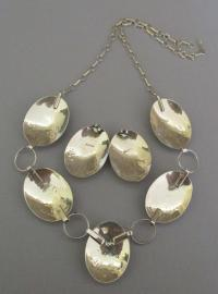 Stunning Vintage Sterling Concho Abalone Necklace and ...