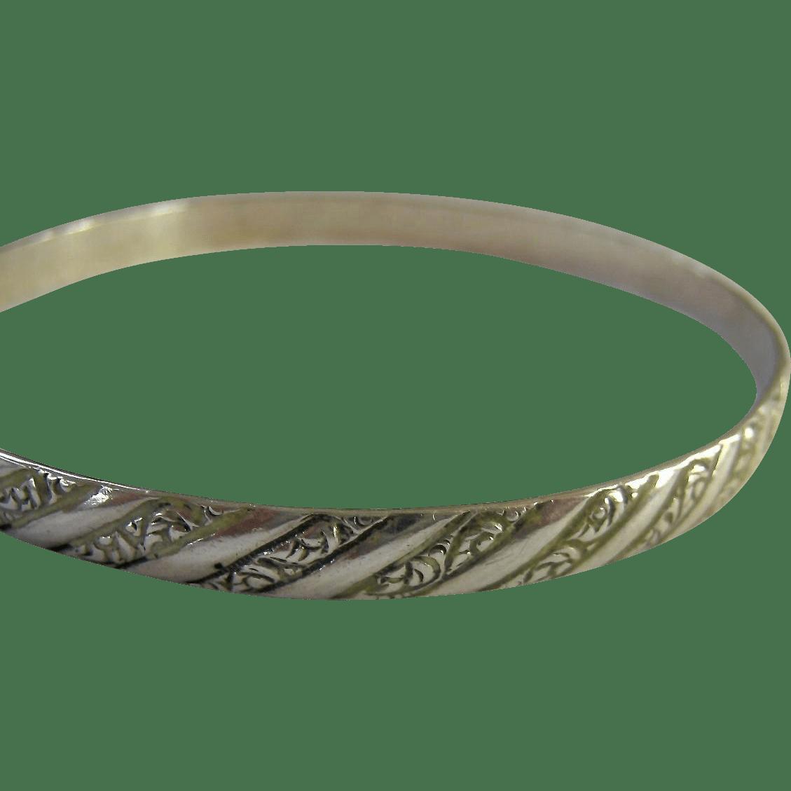 Danecraft Felch Sterling Silver 925 Bangle Bracelet