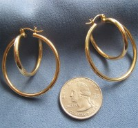 14K Gold Loop within Loop Earrings Large from susabellas ...