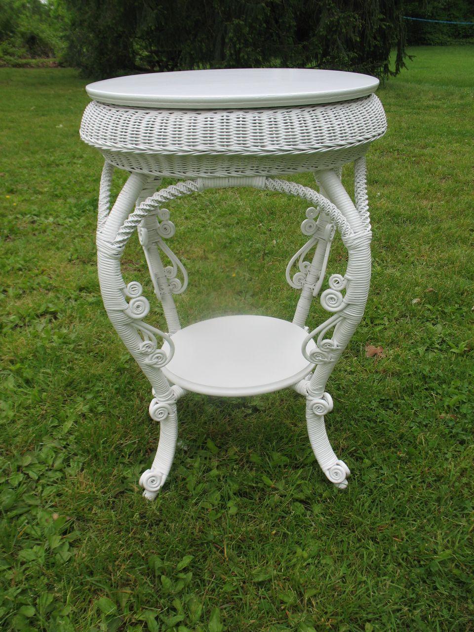 Antique Victorian Wicker Table Circa 1890'