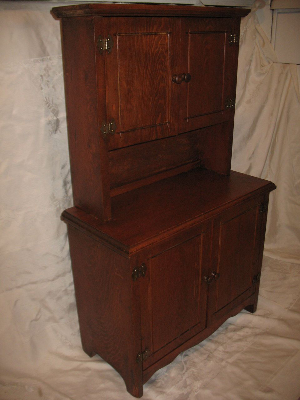 Vintage Childs Step Back Cupboard Wooden Circa 1920s