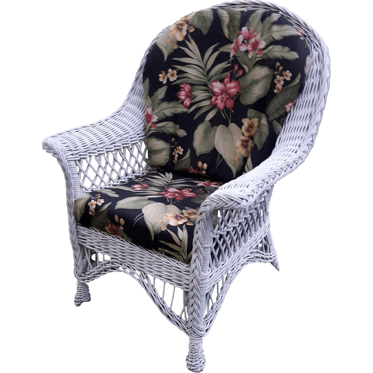 Vintage Bar Harbor Wicker Arm Chair Circa 1920s from