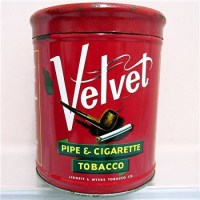 Velvet Humidor Pipe & Cigarette Tobacco Advertising Tin