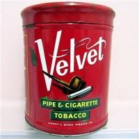 Velvet Humidor Pipe & Cigarette Tobacco Advertising Tin ...