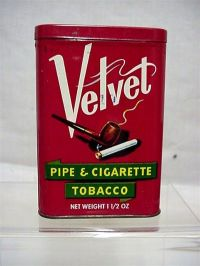 Velvet Pipe & Cigarette Tobacco Tin SOLD on Ruby Lane
