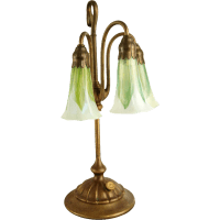 American Tiffany Studios Three-Light Lily Table Lamp and ...