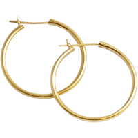 14KT Yellow Gold Hoop Earrings SOLD on Ruby Lane