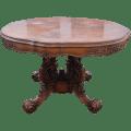 Wood walnut baroque style round from europeantiqueshop on ruby lane
