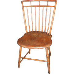 Antique Windsor Chair Identification Ergonomic Cushion American Rod Back Side Circa 1810
