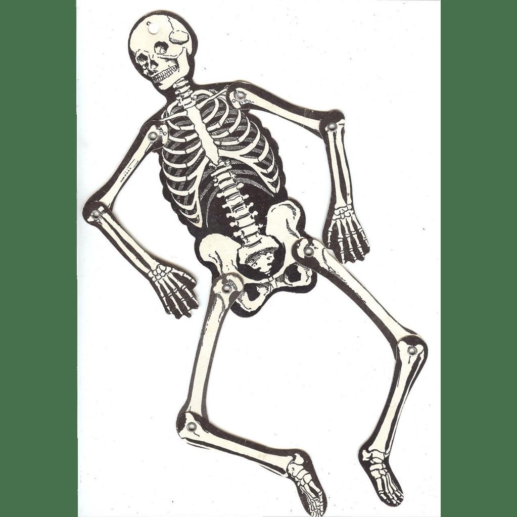 Vintage Joined Skeleton Halloween Decoration Beistle