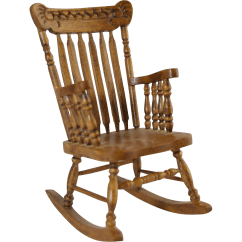 Mini Rocking Chair Phil And Teds High Vintage Miniature Dollhouse Pressed Back Type Spindle