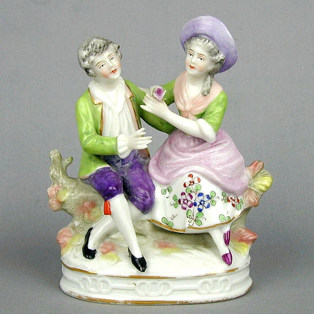 Vintage Sitzendorf Germany Porcelain Couple Figurine