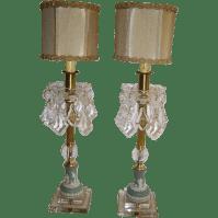 Elegant Vintage Jasperware Wedgwood Crystal Prisms Pair