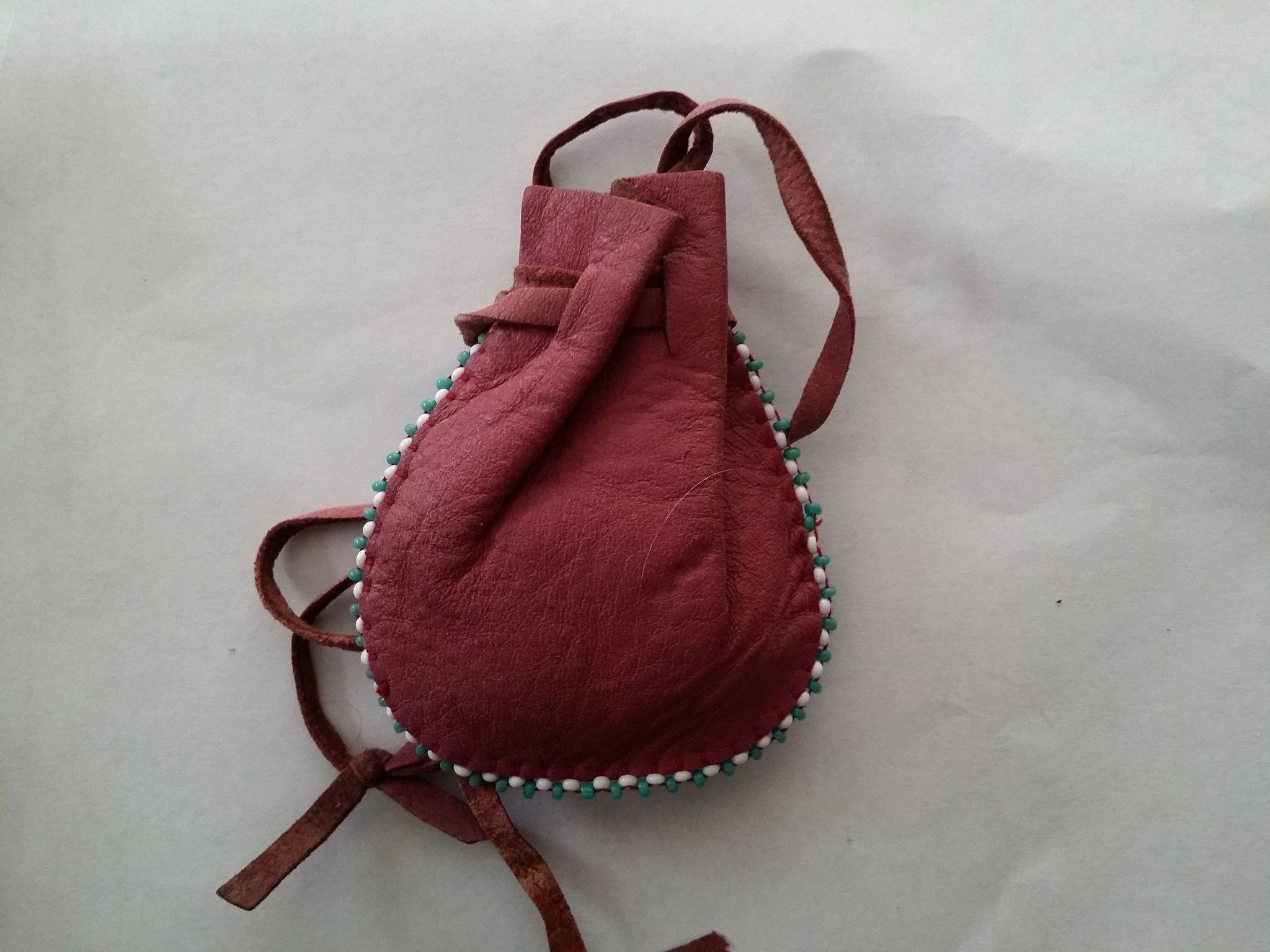Pouch Purse Medicine Bag Tobacco Pouch Beaded Leather Native American From Thisisnotaboutneed On