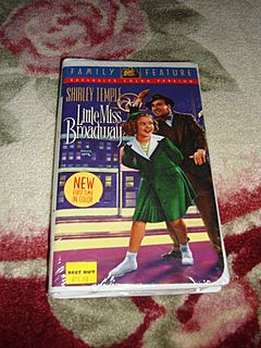 NRFP Shirley Temple VHS Tape Little Miss Broadway from