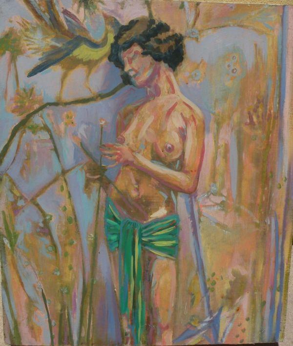 Contemporary American Art Interesting Impressionist Oil