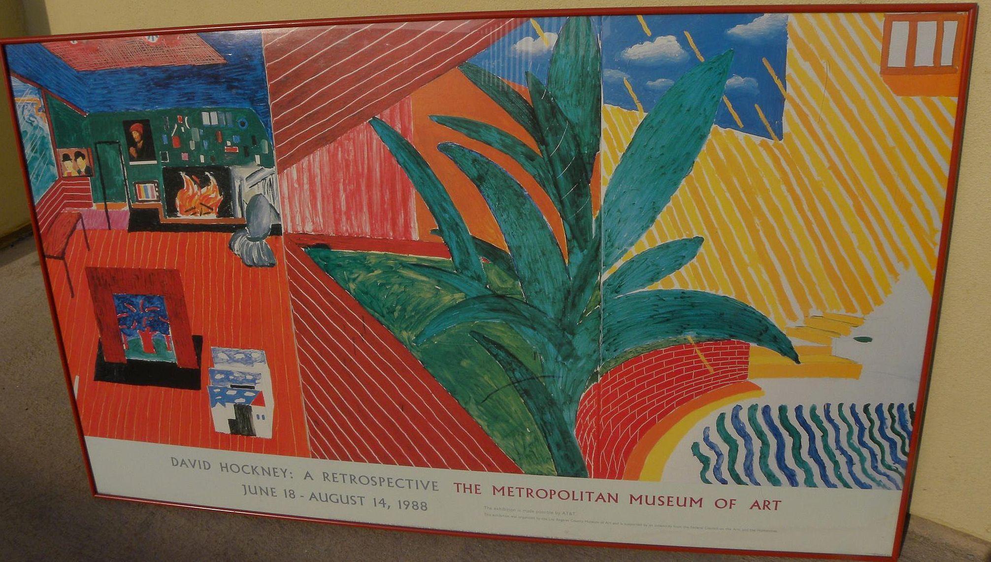 David Hockney Metropolitan Museum Of Art 1988 Poster