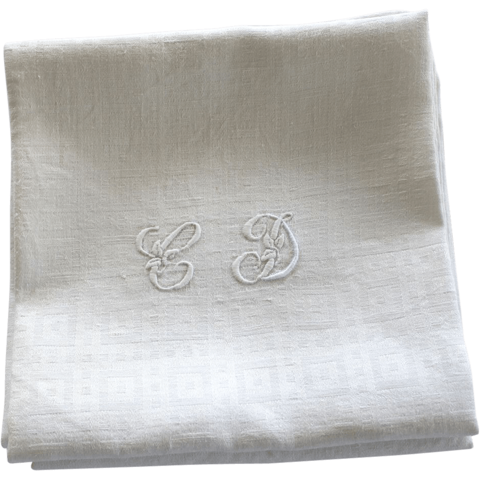 Antique French Linen Monogrammed Napkins