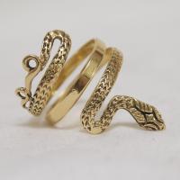 Vintage 18KT Gold Snake Ring from kirstenscorner on Ruby Lane