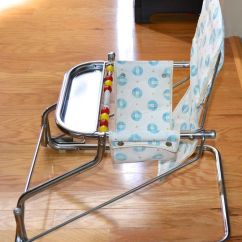 Infant Bouncy Chair Wheelchair Access Width 1950s Taylor Tot Baby Bouncer W Abacus Chrome Aluminum