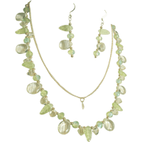 Colors Of Peridot Green Yellow Necklace And Earrings Set ...