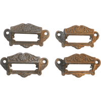 Eastlake Cabinet Hardware CAST IRON Insert Labels Pulls ...