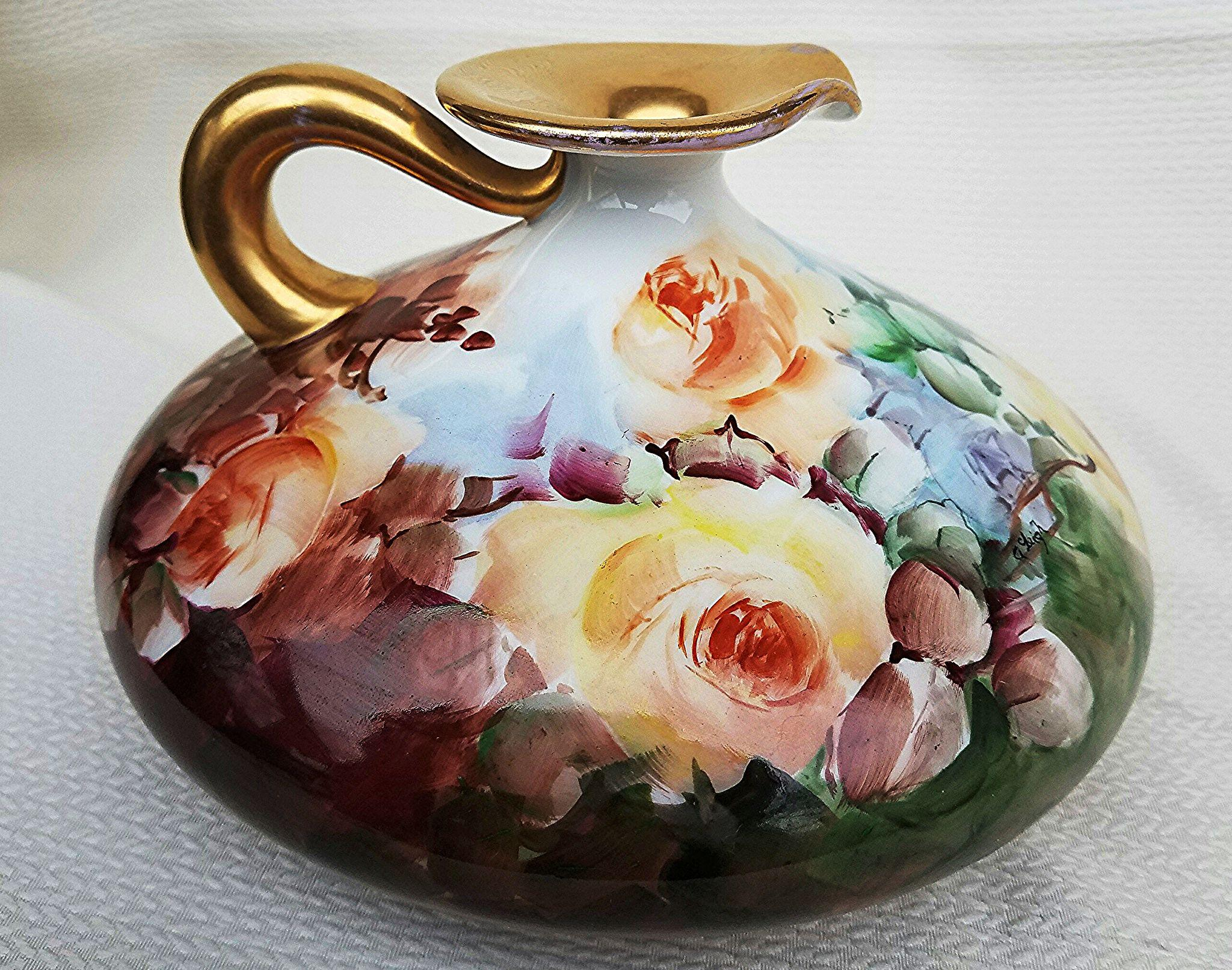 Outstanding .l. Limoges France 1914 Hand Painted Large