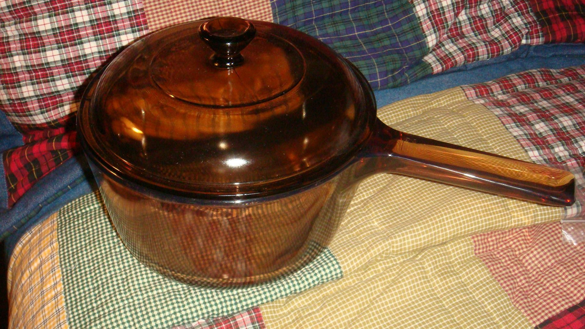Corning Ware Pyrex Visions Cookware Saucepan With Lid 1.5