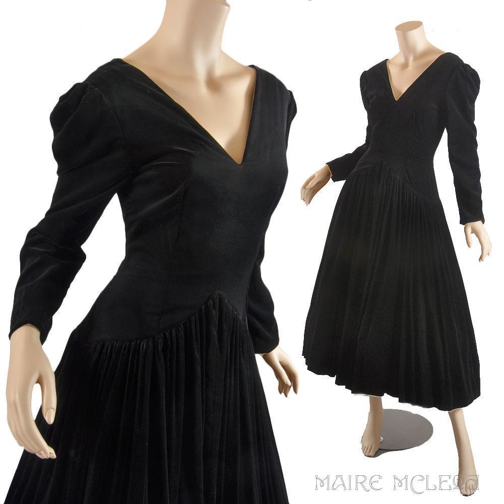 Black Velvet Dress Gown