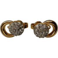 Trifari Pave Rhinestone Clip Earrings from manorsfinest on ...