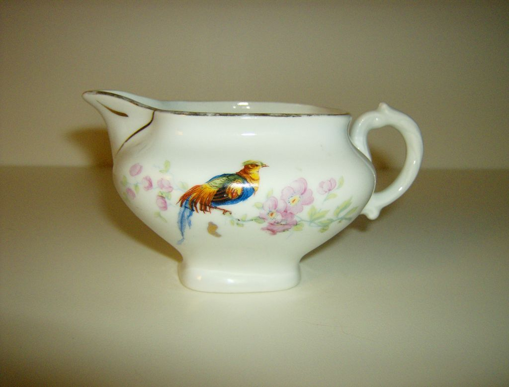Porcelain Creamer  Made in Czechoslovakia  Golden
