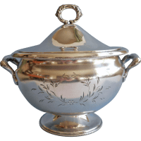Silver Tureen Antique Forbes Serving Soup Bowl Lid ...