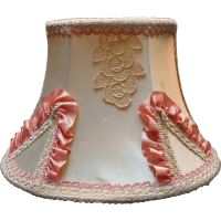 Headboard Lamp Vintage Lace Pink Ribbon Trim Fabric Hooks ...