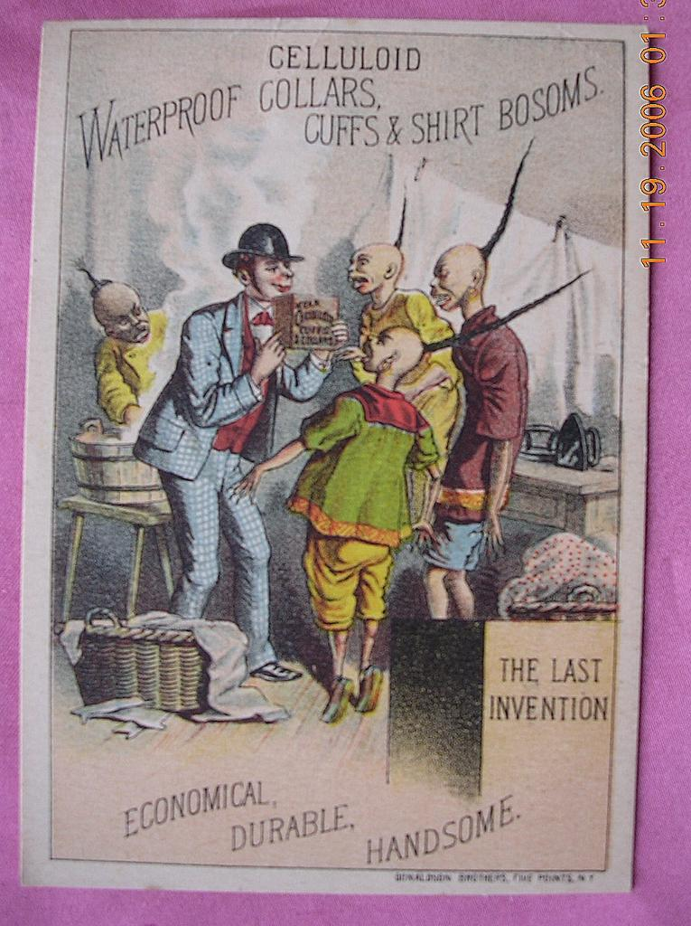 Victorian Racist Advertising Trade Card Celluloid