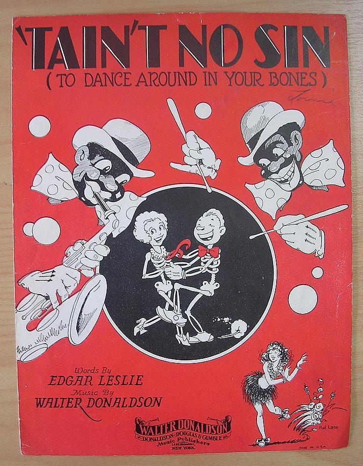 BLACK Americana Sheet Music 'Tain't No Sin' : Antique Goodies   Ruby Lane