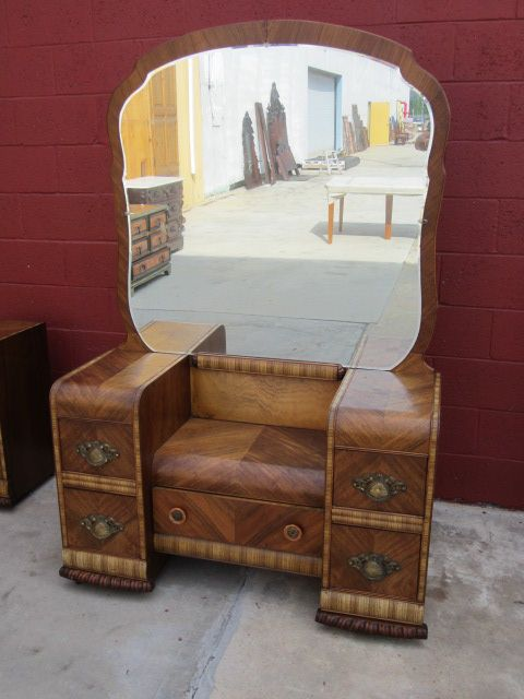 american vanity dresser art deco waterfall bedroom furniture sold
