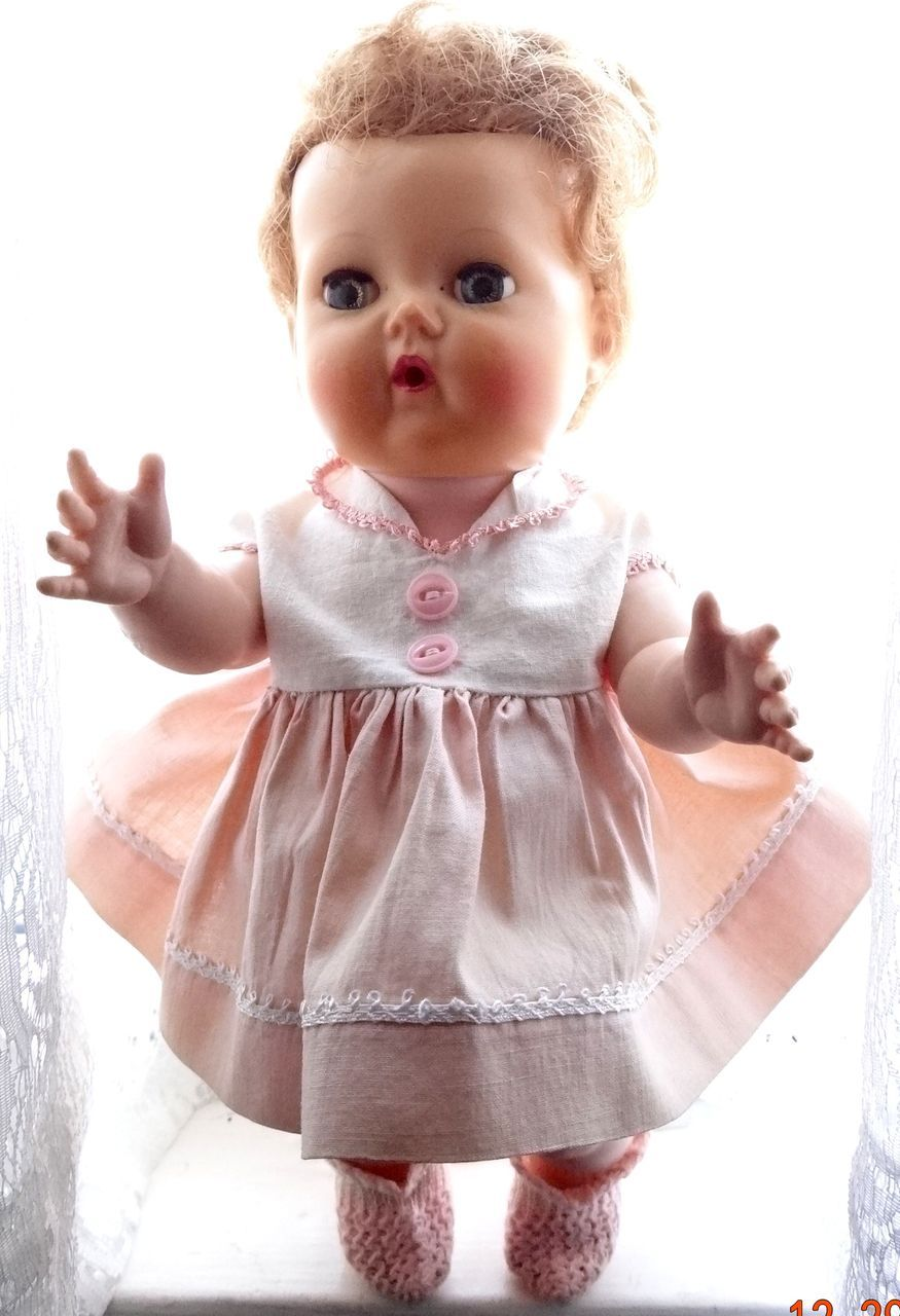 American Character 12 Tiny Tears Doll Rock A Bye Eyes