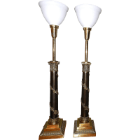 Vintage Stiffel Neoclassical Brass Table Lamps from ...