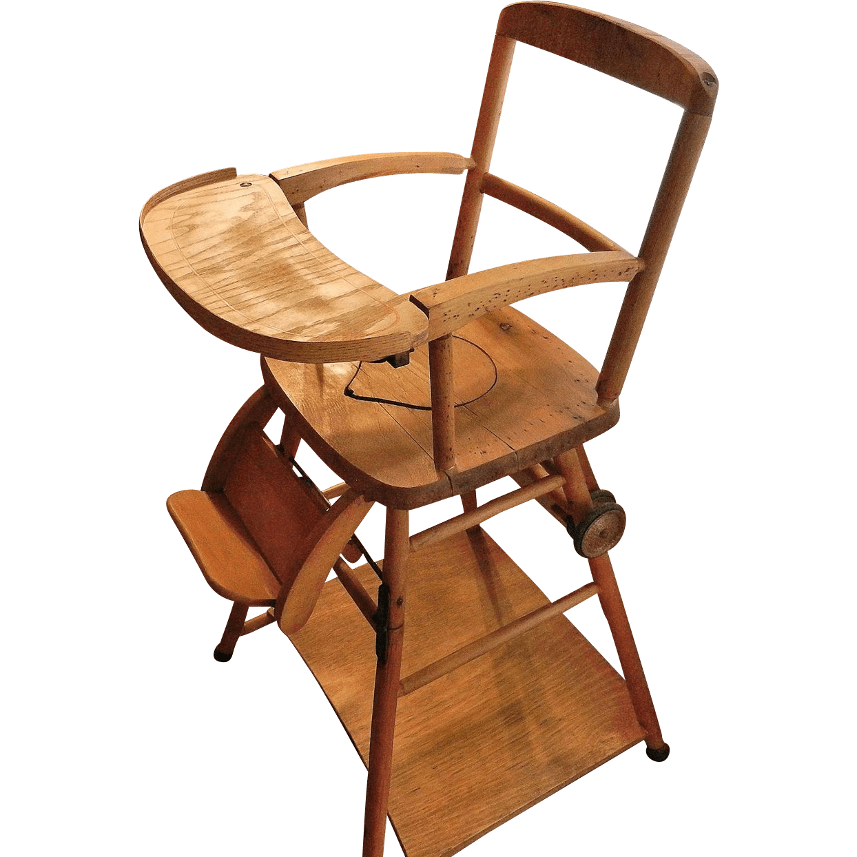 Wooden High Chair Vintage Wooden High Chair Potty Chair And Play Chair In