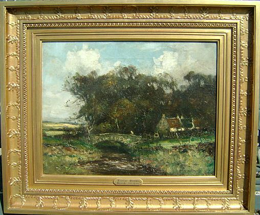 Taylor Brown 19th C English Landscape Oil Painting From