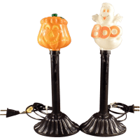 Old Halloween, Electric Lamp Novelties - Pumpkin Ghost w ...