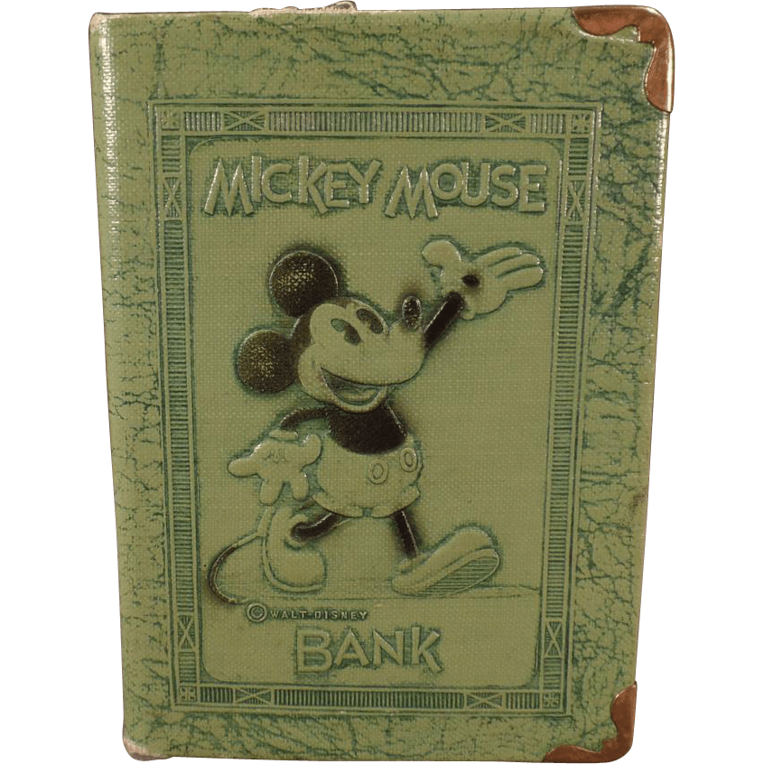 Vintage Mickey Mouse Book Bank