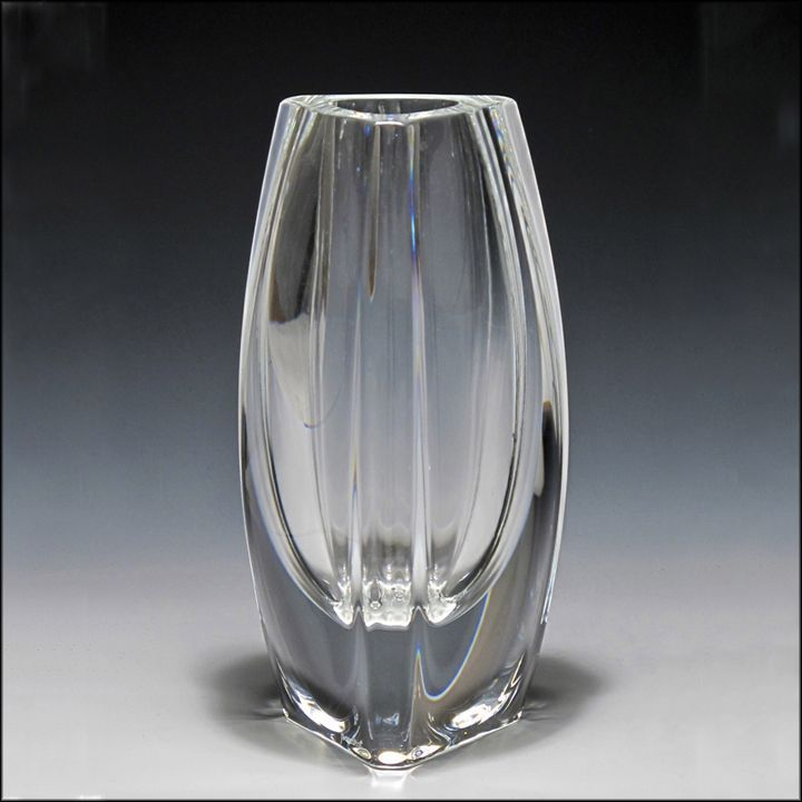 Signed Baccarat Crystal BoutonDor Vase from oh on Ruby Lane
